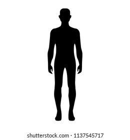 Male body shape. Silhouette of an adult man. Vector icon.