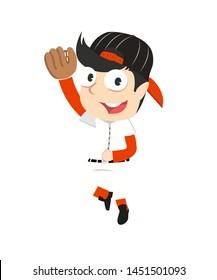 male catcher baseball vector illustration