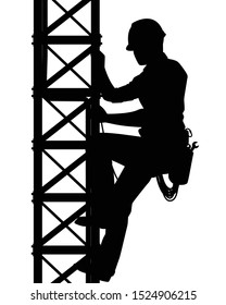 Technicians Climbing Towers Stock Illustrations Images Vectors Shutterstock