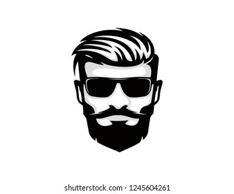 Male face vector template