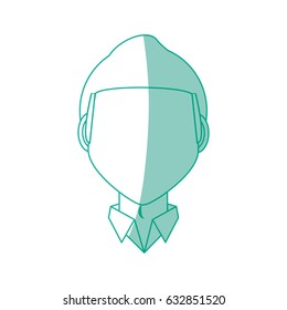 Male faceless head