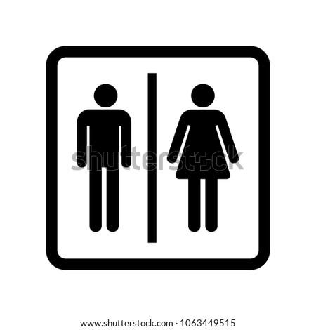 Male Female Bathroom Sign Vector Icon Stock Vector Royalty Free Impressive Bathroom Sign Vector