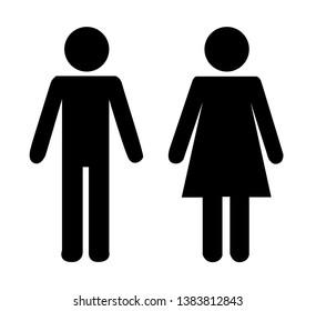 Male female black icon vector