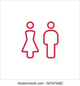 male female couple line icon