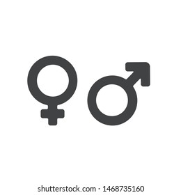 Male and Female gender symbol vector