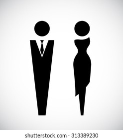 Male and female  icon design