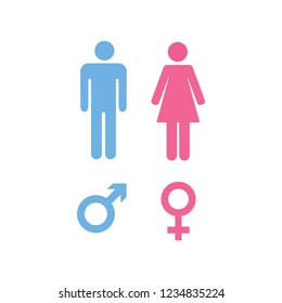 Male and female icon logo