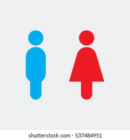 male and female icon vector