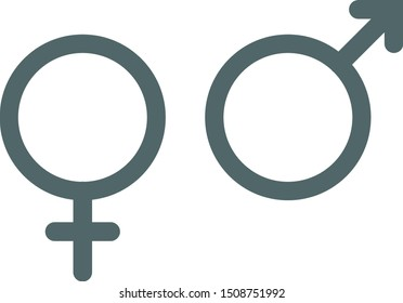 Male and female icon. Vector illustration