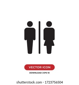 Male and Female icon vector. Toilet sign