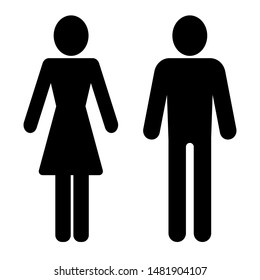 Male and female, Man and Woman icon . Modern minimalistic flat design. Toilet symbol for your web site design, logo, app, UI