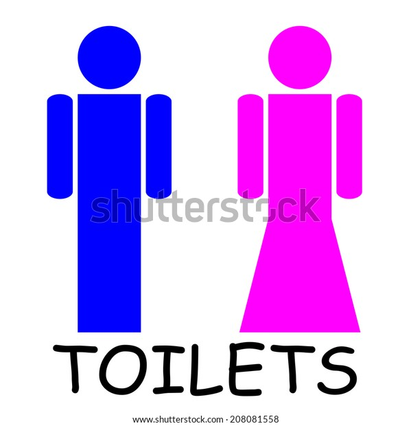 . Male Female Restroom Signs Vector Stock Vector  Royalty Free  208081558