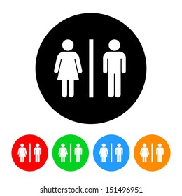 Male and Female Restroom Symbol Icon