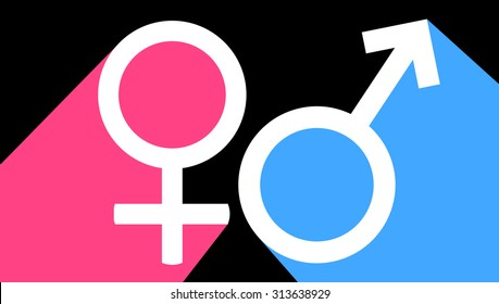Male and female sex symbol