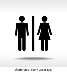Male and Female sign icon, vector illustration. Flat design style