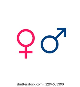 Male and Female signs. Gender.