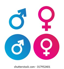 Male and Female Symbol Flat Vector