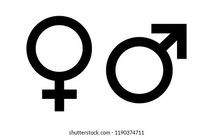 Male and Female symbol icon vector. symbol for web site Computer and mobile vector.