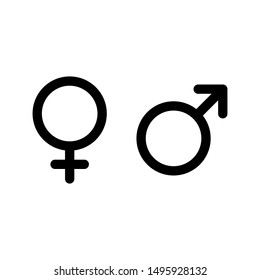 Male and female symbol set . icon vector illustration on white background