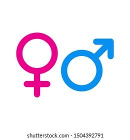 Male and female symbol set . icon vector illustration on white background