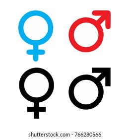 male and female symbol set logo