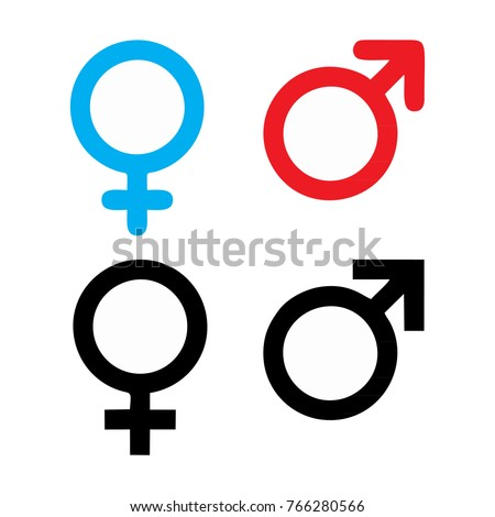 Male Female Symbol Set Logo