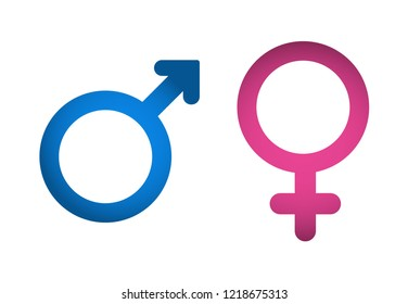 Male and female symbol set . Man and wooman. Boy and girl.