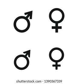 Male and female symbol set . Vector illustration
