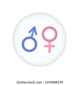Male and female symbol, toilet sign, man with woman