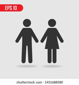 Male and female symbol. Vector illustration. EPS 10