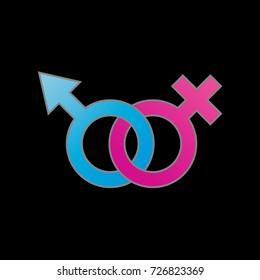 Male and female symbol.Symbol of gender identity