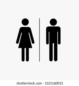Male and Female Toilet icons. Isolated. Vector