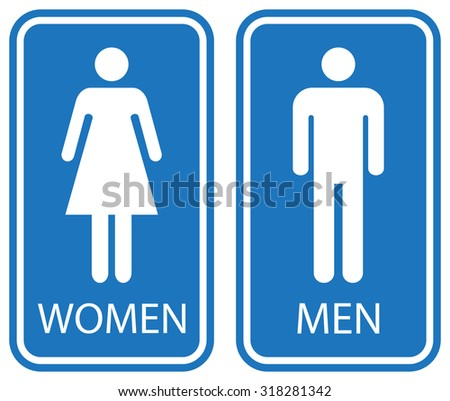 Male Female Toilet Signs White Isolated Stock Vector Royalty Free Extraordinary Male Female Bathroom Symbols
