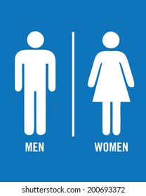 Male and Female Vector Bathroom Icons