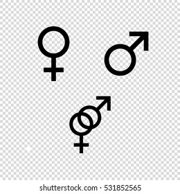 Male and female  - vector icon set