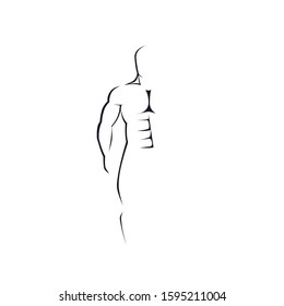 Male figure. Silhouette of a man. Vector illustration
