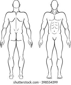 Male Figure - Vector Illustration