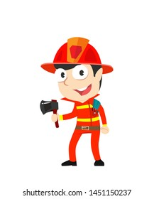male fire fighters vector illustration