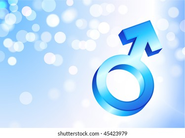 Male Gender Symbol Original Vector Illustration EPS10