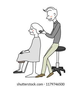 Fabulous Hair Salon Customers Stock Vectors Images Vector Art Download Free Architecture Designs Rallybritishbridgeorg