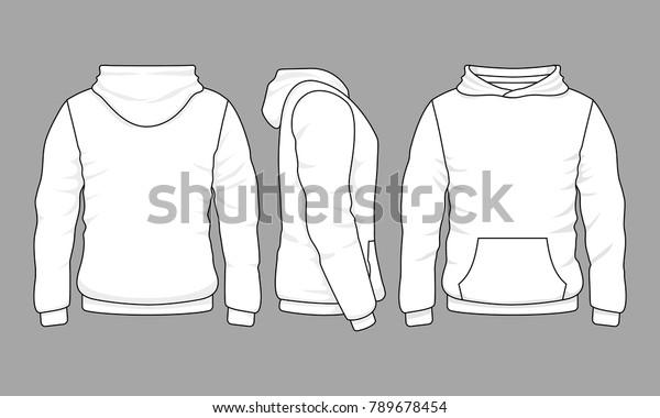 Image vectorielle de stock de Un sweat shirt à capuche mâle