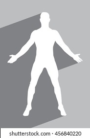 Male human body belonging to an adult man flat icon for apps and websites