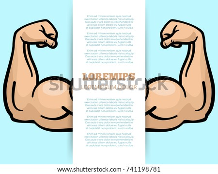 male muscle arms banner template sport stock vector royalty free