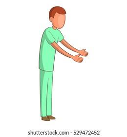 Male nurse icon. Cartoon illustration of male nurse vector icon for web design