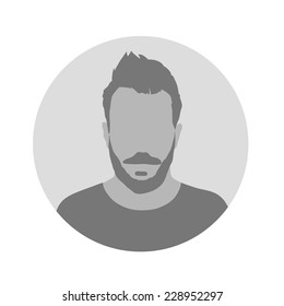 Male Profile Picture Placeholder. Vector illustration. Design social profile template. avatar people. Flat style vector.