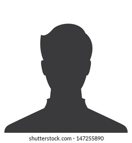 male profile picture, silhouette profile avatar