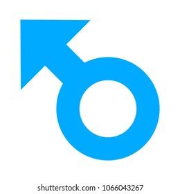 Male sex icon, gender male symbol - human relationship illustration sign