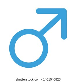 Male, sex sign vector icon. filled flat sign for mobile concept and web design. Male gender glyph icon.Male sign icon. Male sex Symbol