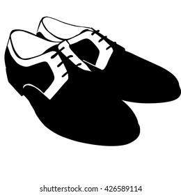 male shoes silhouette