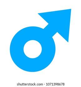 Male sign icon. Male sex symbol